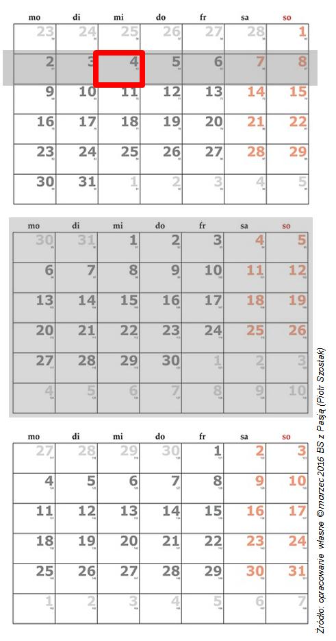 nowy kalendarz