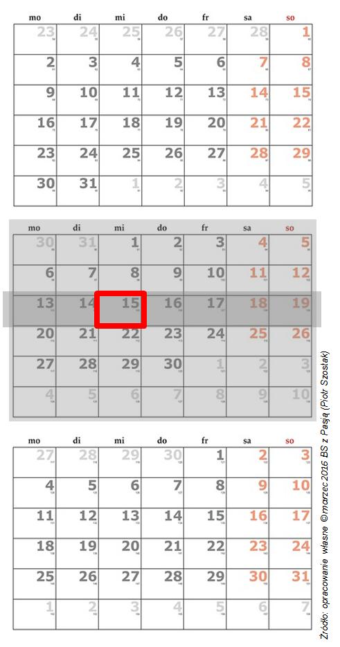 stary kalendarz