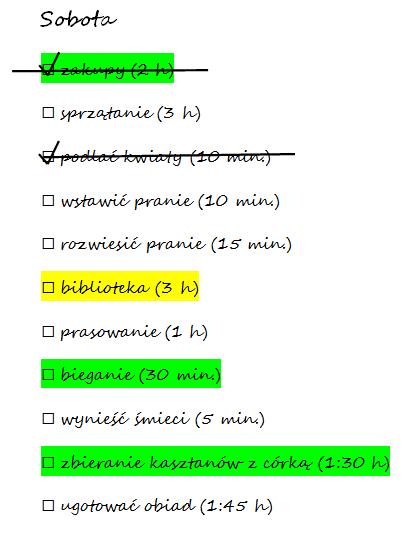 lista zadań rozbudowana